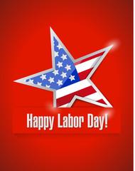happy labor day illustration design