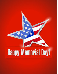 happy memorial day illustration design