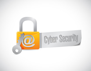 cyber security lock sign illustration