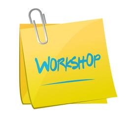 workshop post memo illustration design