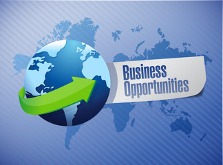 business opportunities sign illustration