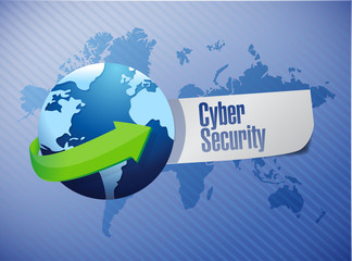 cyber security sign illustration design