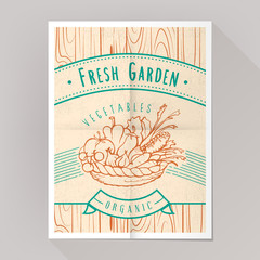 Organic vegetables poster