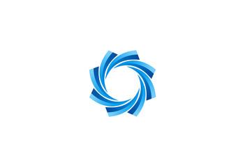 abstract circle geometry logo