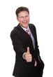 Cheerful Businessman Showing Thumbsup