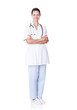 Portrait Of Confident Female Doctor Standing Arms Crossed