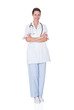 Smiling Female Doctor Standing Arms Crossed