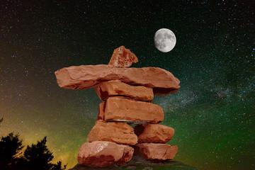 PEI Red Sand Stone inukahuk