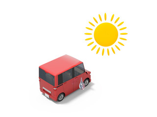 車と熱中症