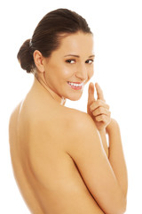 Portrait of beautiful bare woman