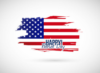 happy patriot day flag illustration design