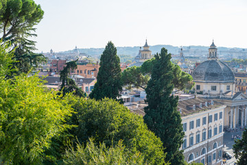 Roma, panorama dal Pincio