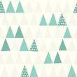 Seamless Pattern. Geometric. Christmas Tree