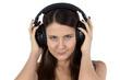 Portrait of woman in headphones