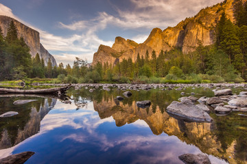 merced river - reflection