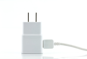 white adapter charger