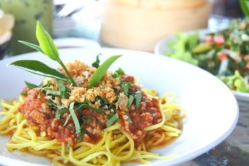 Spaghetti sauce spicy