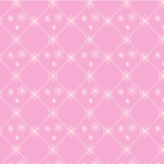 seamless vector pattern floral on pink background