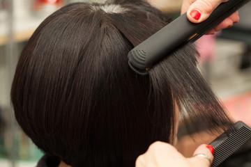 Straightening Short Hair