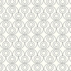 seamless vector pattern dash circle background