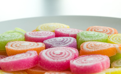 Close-up of colorful candy