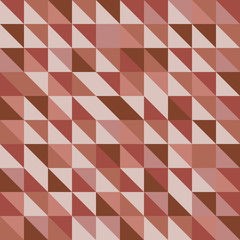 Retro triangle pattern with red background