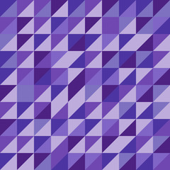 Retro triangle pattern with violet background