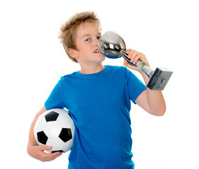 boy with ball and cup