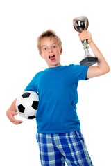 jubilation boy with ball and cup