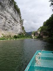 Découverte du Tarn.Les barques