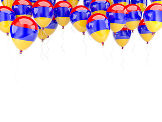 Balloon frame with flag of armenia