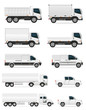 set of icons cars and truck for transportation cargo vector illu - 73137905