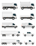 Fototapety set of icons cars and truck for transportation cargo vector illu