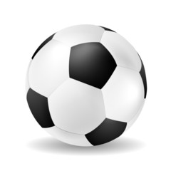 Isolated vector soccer ball closeup