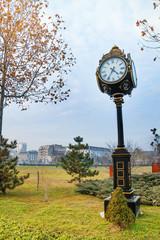 Beautiful clock in Parcul Unirii park, Bucharest