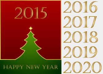 Happy New Year. Set