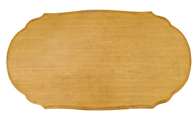 yellow wood board isolated on white