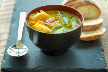 Soupe de potiron aux épices Thai