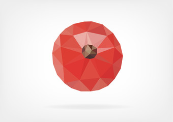 Low Poly Red Currant