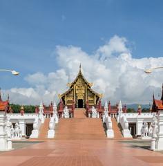 Beautiful Thai Royal pavilion in Lanna style, Thailand