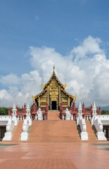 Beautiful Thai Royal pavilion in Lanna style, Thailand