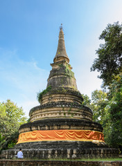 Ancient pagoda of Wat Umong temple in Chiang Mai, Thailand