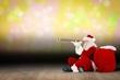 Santa claus looking through telescope