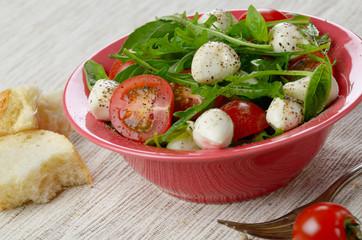 Caprese Salad and bread