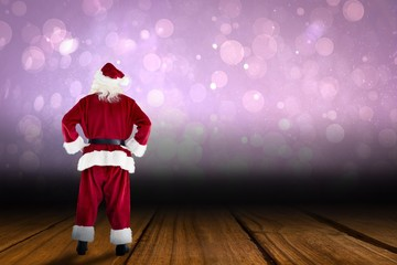 Santa claus with hands on hips