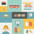Back to school infographic template. Vector.