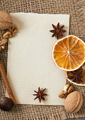 spices and paper