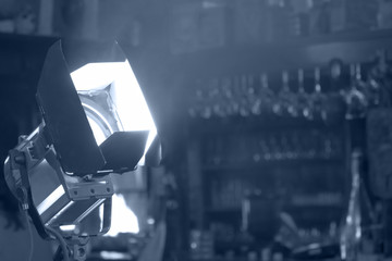 Movie reflector lighting equipment.