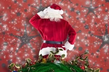 Composite image of santa claus