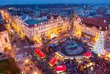 PRAGUE,CZECH REPUBLIC-JAN 05, 2013: Prague Christmas market
